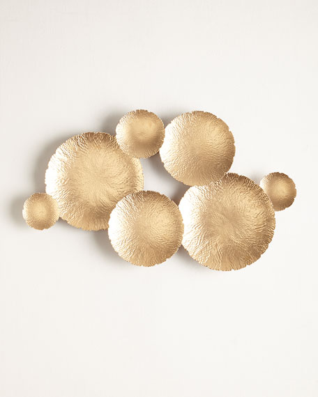 Superieur Ares Gold Tone Wall Decor