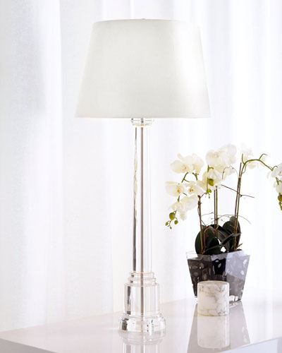 Crystal Candlestick Buffet Lamp