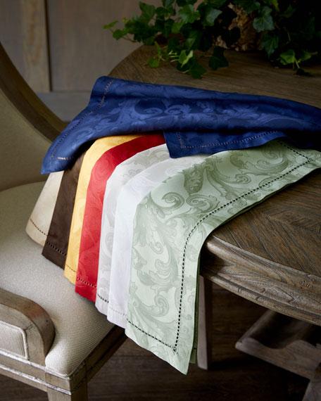 "Plume Jacquard 90"" Round Tablecloth"