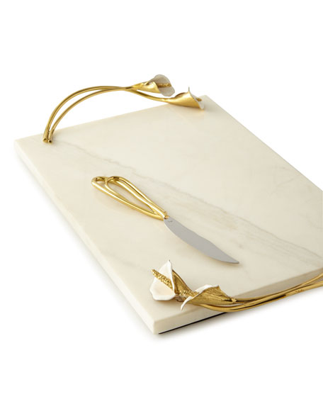 Michael Aram Calla Lily Cheese Board with Knife
