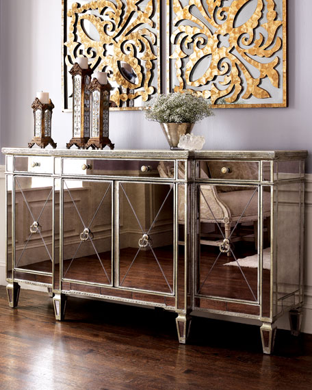mirrored sideboard table amelie mirrored buffet 4166