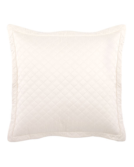"Jackie Quilted European Pillow, 32""Sq."