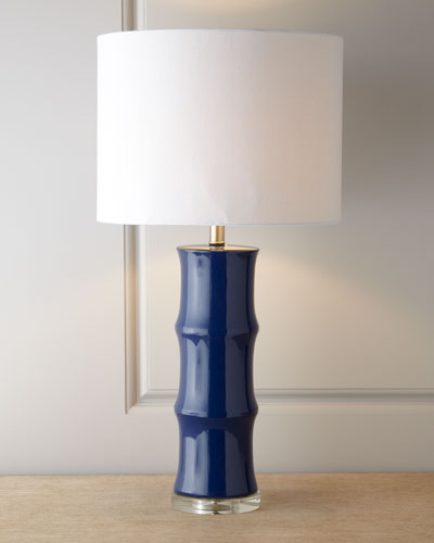 Blue Ceramic Lamp