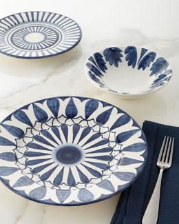 12-Piece Azul Leaf Dinnerware Service