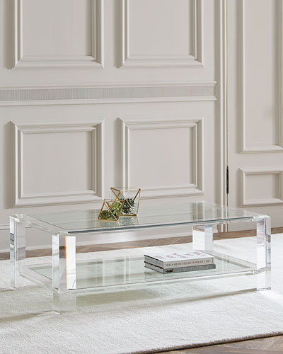 Marble Mirrored Coffee Tables At Neiman Marcus Horchow - All marble coffee table