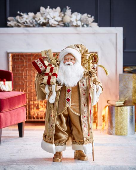 "Gold & Glitter Collection Santa, 36"""