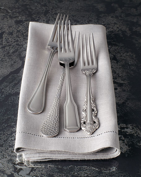 65-Piece Euro Hammered Flatware Service