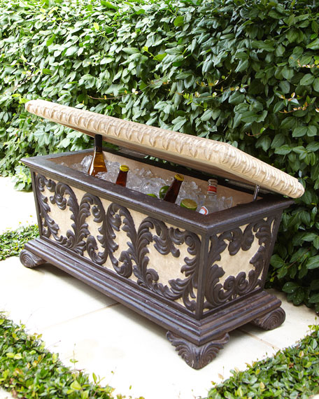 Leaf Scroll Bench Cooler