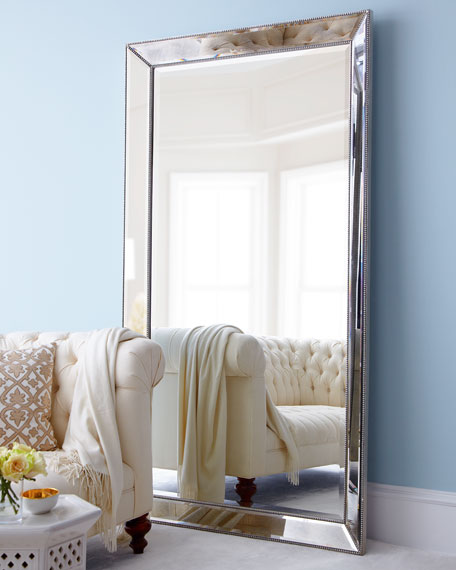 7 foot mirror metal antiqued boxed mirror horchowcom