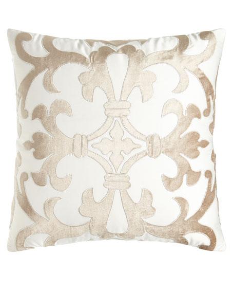 Jackie Velvet Applique Pillow, 22