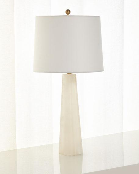 SMALL ALABASTER LAMP
