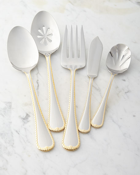 65-Piece Cameo Gold Flatware Service