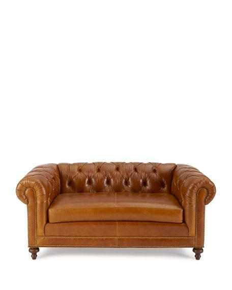 "Davidson 69"" Slab Seat Chesterfield Sofa"