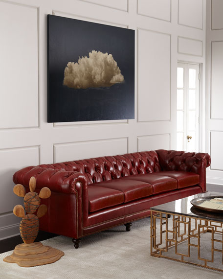 "Davidson 119"" Four-Cushion Chesterfield Sofa"