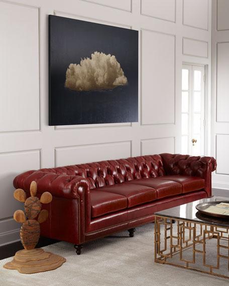"Davidson 119"" Four-Cushion Chesterfield Sofa"