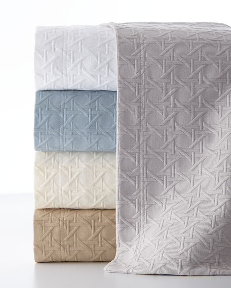 King Marcus Collection Cane Matelasse Coverlet