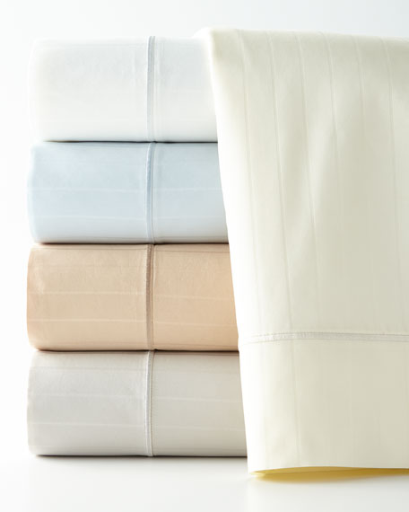 King Marcus Collection 400 Thread-Count Striped Sheet Set