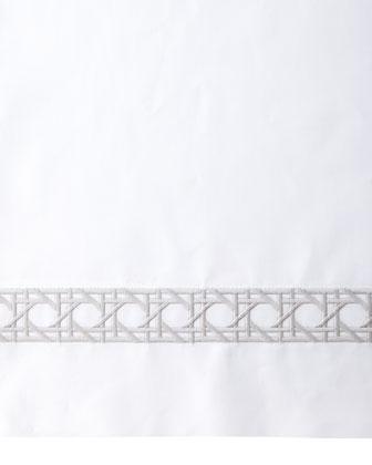King 3-Piece Cane-Embroidered Duvet Set