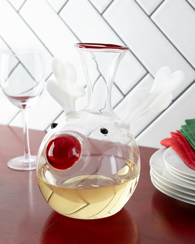 Red-Nosed Reindeer Decanter