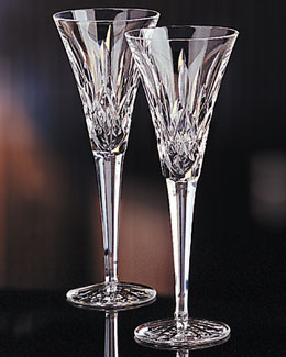 "Waterford Crystal ""Lismore"" Crystal Toasting Flutes"