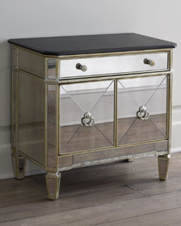 """Amelie"" Two-Door Mirrored Chest"