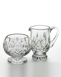 Waterford Crystal Lismore Footed Cream & Sugar