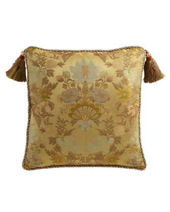 European Floral Sham with Tassels