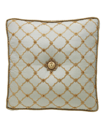 Square Tufted Trellis Pillow