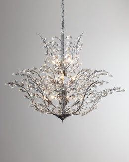 """Upside Down"" Crystal Chandelier"