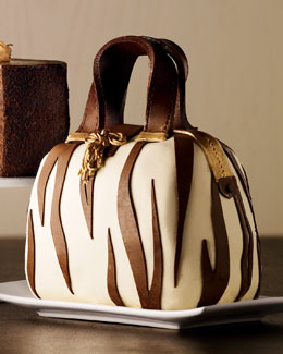 Elegant Cheesecakes Zebra-Striped Handbag Cake