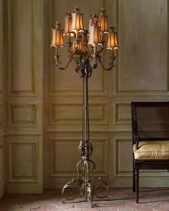 john richard collection venetian style floor lamp. Black Bedroom Furniture Sets. Home Design Ideas