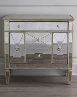 """Amelie"" Mirrored Nightstand"