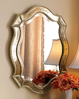 """Felicie"" Oval Mirror"
