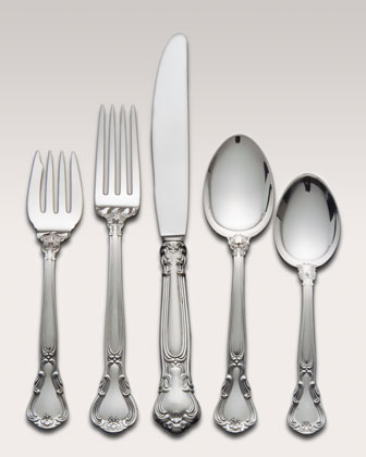 Five-Piece Gorham Chantilly Sterling-Silver Flatware Place Setting