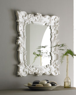 ANTIQUE AS ELEGANT Baroque-Style Mirror