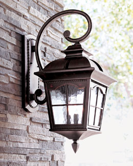 """Colonial"" Three-Light Wall Lantern"