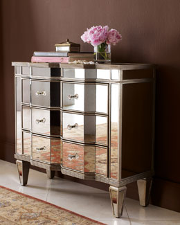 """Chelsea"" Mirrored Chest"