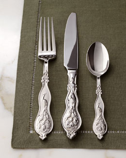 "Wallace Silversmiths 45-Piece ""Peacock"" Flatware Service"