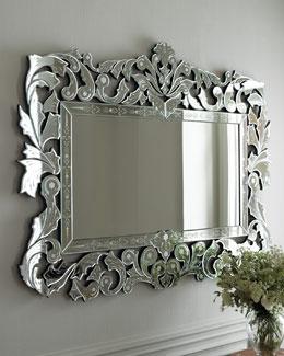 """Pt Romi Violeta """"Giorgia"""" Venetian-Style Mirror"""