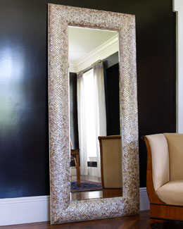Mother-of-Pearl Floor Mirror