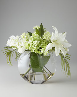 John-Richard Collection Green & White Faux Flowers
