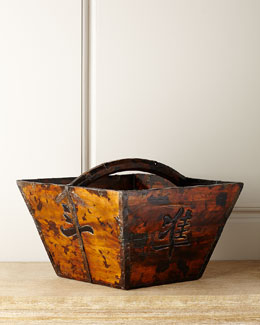 Hang Fai Antique Wooden Basket