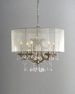 Six-Light Veiled Shade Chandelier