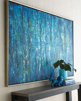 "John-Richard Collection ""Blue Jinlu"" Painting"