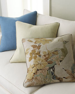 Old Hickory Tannery Floral Peacock Pillow Group