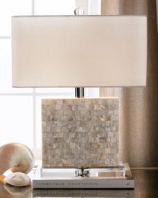 Regina-Andrew Design Rectangular Mother-of-Pearl Lamp