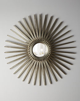 "Oversized ""Sunburst"" Mirror"