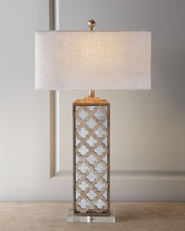 Mirrored Capiz Lamp