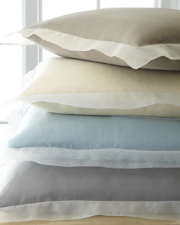 Fino Lino Linen & Lace Organza European Sham