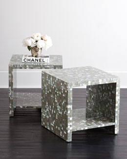 Bernhardt Abalone Side Table